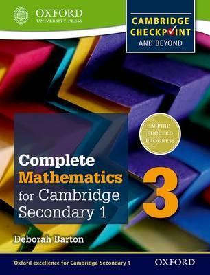 Complete Mathematics for Cambridge Lower Secondary 3: Cambridge Checkpoint and beyond - Deborah Barton