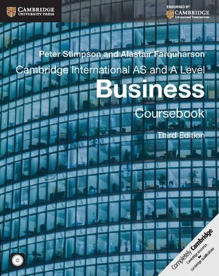 Cambridge International AS and A Level Business Coursebook with CD-ROM - Peter Stimpson