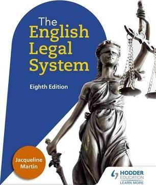 English Legal System Eighth Edition - Jacqueline Martin