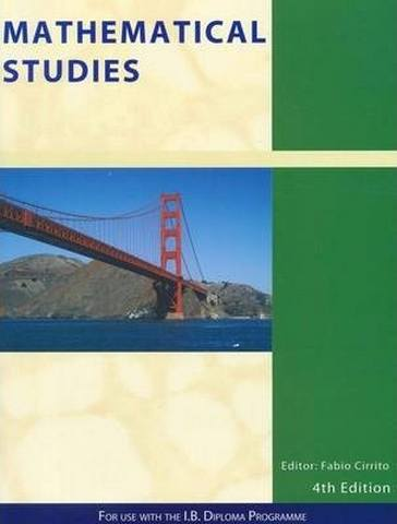 Mathematical Studies: For Use Witn the International Baccalaureate Diploma Programme - Patrick Tobin