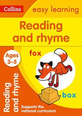 Reading and Rhyme Ages 3-5: New Edition (Collins Easy Learning Preschool) - Collins Easy Learning