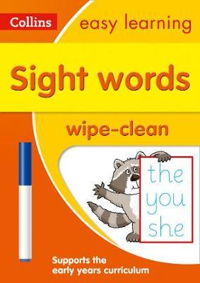 Sight Words Age 3-5 Wipe Clean Activity Book (Collins Easy Learning Preschool) - Collins Easy Learning