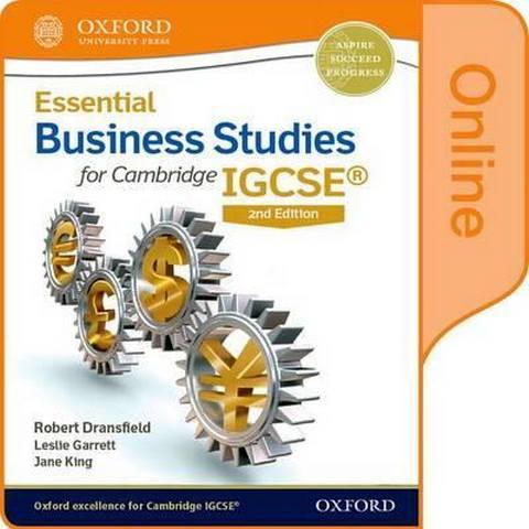 Essential Business Studies for Cambridge IGCSE (R): Online Student Book - Robert Dransfield