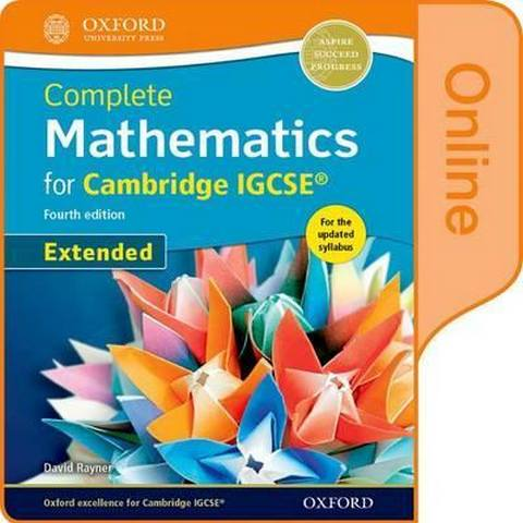 Complete Mathematics for Cambridge IGCSE (R) Online Book (Extended) - David Rayner