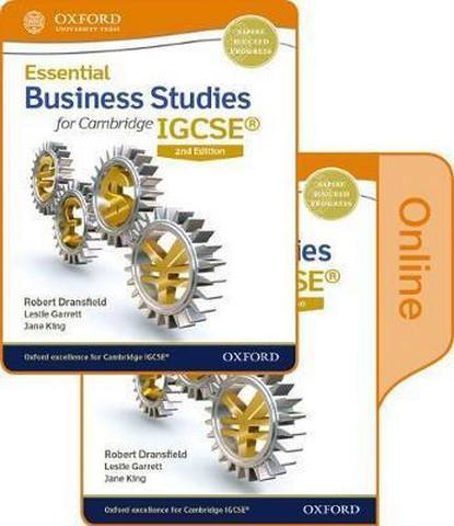 Essential Business Studies for Cambridge IGCSE (R) Print and Online Student Book Pack - Robert Dransfield