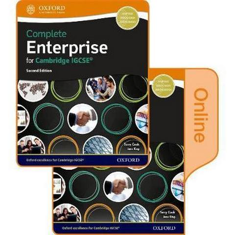 Complete Enterprise for Cambridge IGCSE (R): Print & Online Student Book Pack - Terry Cook