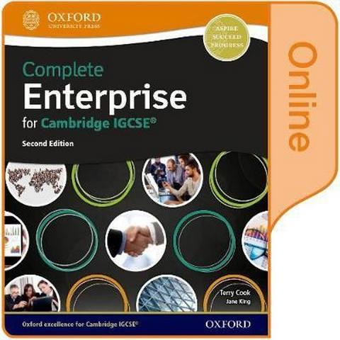 Complete Enterprise for Cambridge IGCSE (R): Online Student Book - Terry Cook