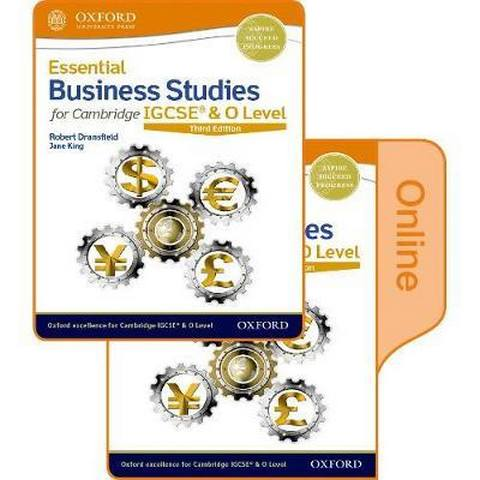 Essential Business Studies for Cambridge IGCSE & O Level: Print & Online Student Book Pack - Robert Dransfield