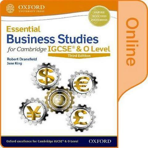 Essential Business Studies for Cambridge IGCSE & O Level: Online Student Book - Robert Dransfield