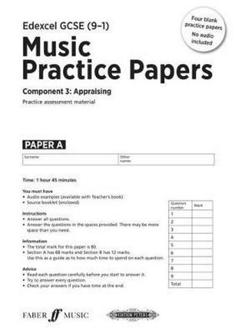 Edexcel GCSE Music Practice Papers (Pack of 4) - Julia Winterson