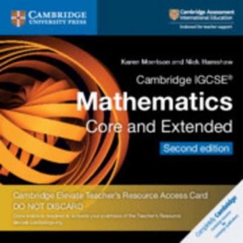 Cambridge International IGCSE: Cambridge IGCSE (R) Mathematics Core and Extended Cambridge Elevate Teacher's Resource Access Card - Karen Morrison
