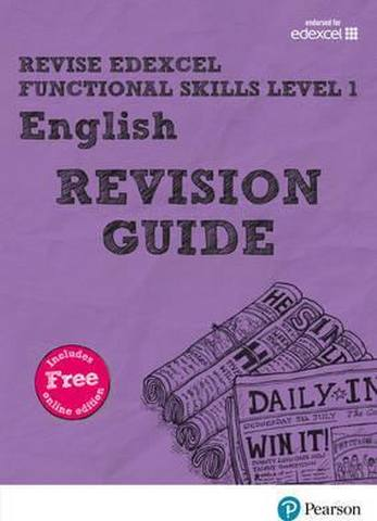 Revise Edexcel Functional Skills English Level 1 Revision Guide: includes online edition - Julie Hughes