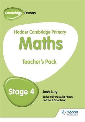 Hodder Cambridge Primary Maths Teacher's Pack 4 - Josh Lury