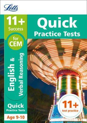 11+ English and Verbal Reasoning Quick Practice Tests Age 9-10 for the CEM tests (Letts 11+ Success) - Letts 11+