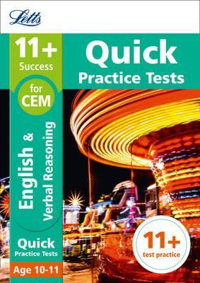 11+ English and Verbal Reasoning Quick Practice Tests Age 10-11 for the CEM tests (Letts 11+ Success) - Letts 11+