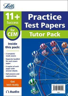 11+ Mock Test Papers Tutor Pack for CEM Inc Audio Download (Letts 11+ Success) - Letts 11+