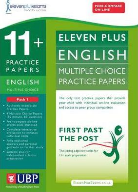 11+ English Multiple Choice Practice Papers: Pack 1 - Eleven Plus Exams