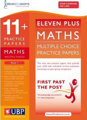 11+ Maths Multiple Choice Practice Papers: Pack 1 - Eleven Plus Exams