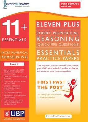 11+ Essentials Short Numerical Reasoning for CEM: Book 1 - Eleven Plus Exams