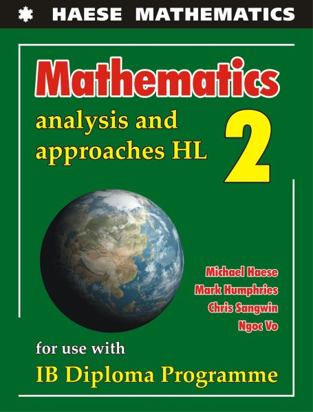 Analysis & Approaches HL - Textbook - Michael Haese - 9781925489590