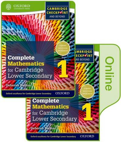 Complete Mathematics for Cambridge Lower Secondary Book 1: Print and Online Student Book - Deborah Barton - 9780198379638