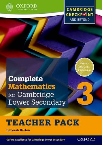 Complete Mathematics for Cambridge Lower Secondary Teacher Pack 3: For Cambridge Checkpoint and beyond - Deborah Barton - 9780199137114