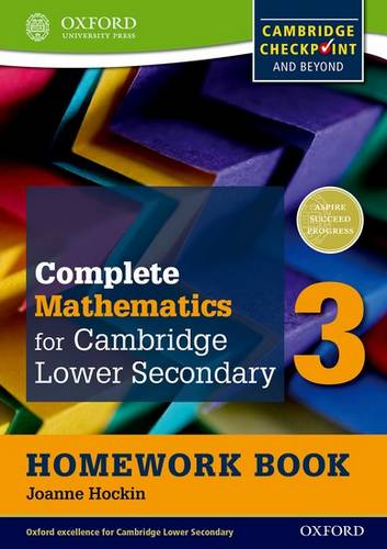Complete Mathematics for Cambridge Lower Secondary Homework Book 3 (Pack of 15): For Cambridge Checkpoint and beyond - Joanne Hockin - 9780199137121