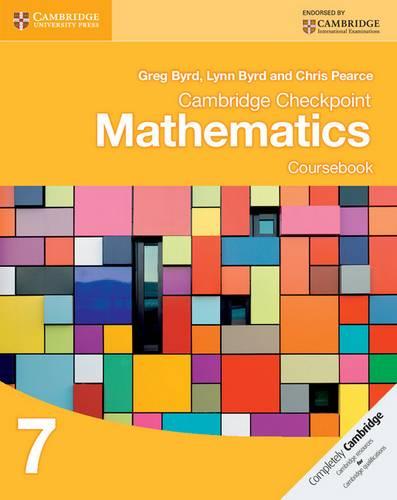 Cambridge Checkpoint Mathematics Coursebook 7 - Greg Byrd - 9781107641112