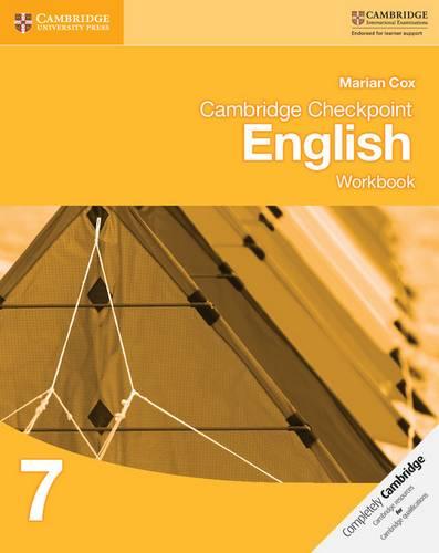 Cambridge Checkpoint English Workbook 7 - Marian Cox - 9781107647817