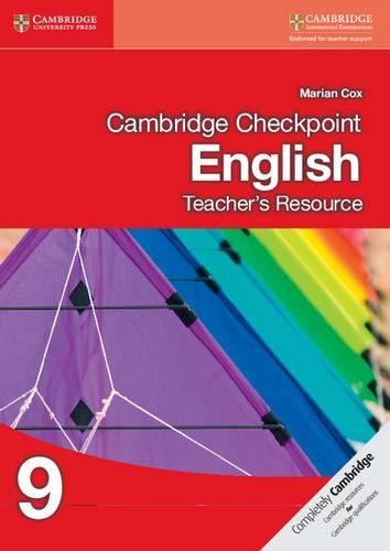 Cambridge Checkpoint English Teacher's Resource 9 - Marian Cox - 9781107654921