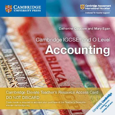 Cambridge International IGCSE: Cambridge IGCSE (R) and O Level Accounting Cambridge Elevate Teacher's Resource Access Card - Catherine Coucom - 9781108458993