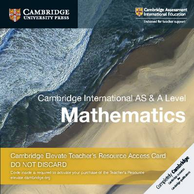 Cambridge International AS & A Level Mathematics Cambridge Elevate Teacher's Resource Access Card - Julia Fletcher - 9781108461672
