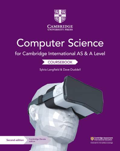 Cambridge International AS and A Level Computer Science Coursebook with Cambridge Elevate Edition (2 Years) - Sylvia Langfield - 9781108568326