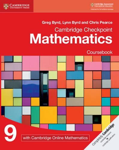 Cambridge Checkpoint Mathematics Coursebook 9 with Cambridge Online Mathematics (1 Year) - Greg Byrd - 9781108671248