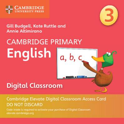 Cambridge Primary English: Cambridge Primary English Stage 3 Cambridge Elevate Digital Classroom Access Card (1 Year) - Gill Budgell - 9781108709132