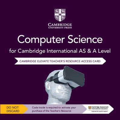 Cambridge International AS & A Level Computer Science Cambridge Elevate Teacher's Resource Access Card - Sylvia Langfield - 9781108718813