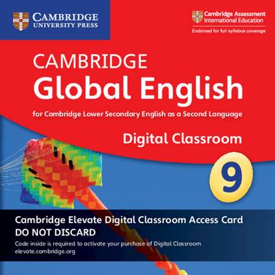 Cambridge Global English Stage 9 Cambridge Elevate Digital Classroom Access Card (1 Year): For Cambridge Lower Secondary English as a Second Language - Christopher Barker - 9781108739948