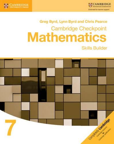 Cambridge Checkpoint Mathematics Skills Builder Workbook 7 - Greg Byrd - 9781316637371