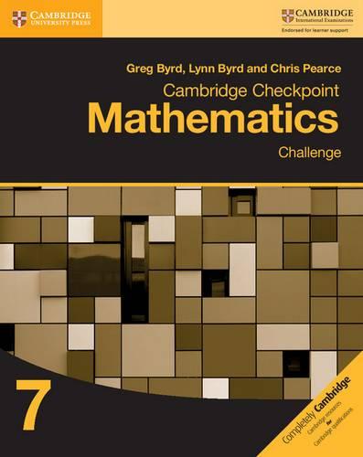 Cambridge Checkpoint Mathematics Challenge Workbook 7 - Greg Byrd - 9781316637418
