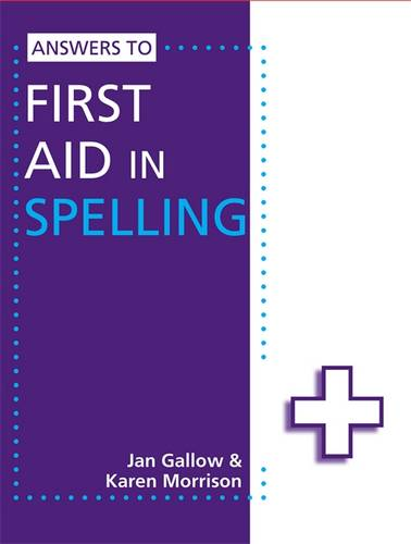 Answers to First Aid in Spelling - Karen Morrison - 9781444186444