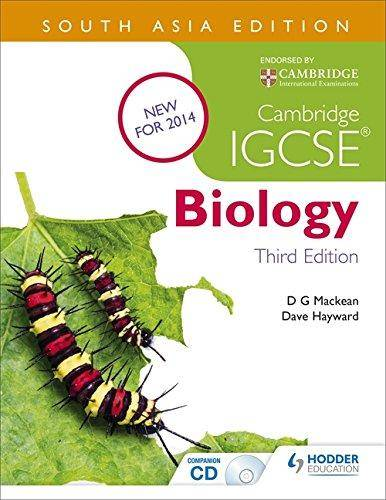 Cambridge IGCSE Biology 3rd Edition - D. G. Mackean - 9781471837982