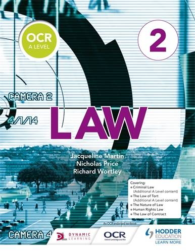 OCR A Level Law Book 2 - Jacqueline Martin - 9781510401778