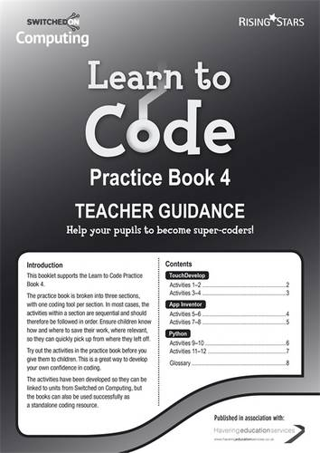 Learn to Code Teacher's Notes 4 -  - 9781783393480