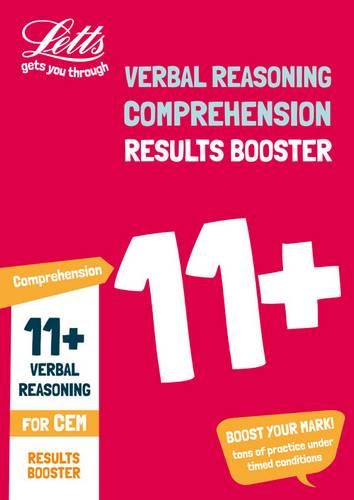 11+ Comprehension Results Booster for the CEM tests: Targeted Practice Workbook (Letts 11+ Success) - Letts 11+ - 9781844199013