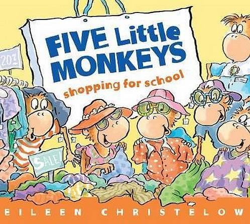 Five Little Monkeys Shopping for School - Eileen Christelow - 9781328612861