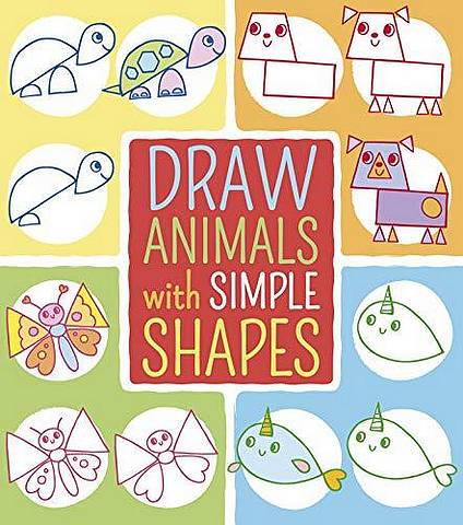 Draw Animals with Simple Shapes - Jo Moon - 9781788885027
