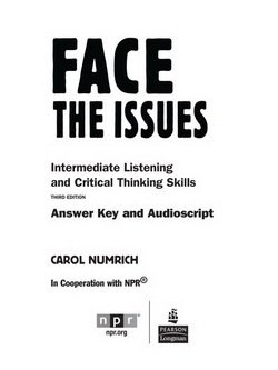 Face the Issues Answer Key - Numrich