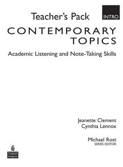 Contemporary Topics (3rd Edition) Intro Teacher's Pack -  - 9780132075206