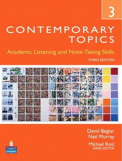 Contemporary Topics (3rd Edition) 3 Advanced Student Book with Audio CD - David Beglar - 9780132469418