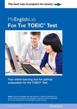 Longman Preparation Series for the TOEIC Test: More Practice Tests MyEnglishLab for the TOEIC Test (Self-Standing) - Lynn Bonesteel - 9780132881876